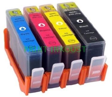Kompatibilní sada HP 364, (SD534EE), s čipem Černá, azurová, purpurová, žlutá