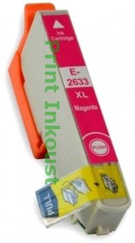 Náplň Epson T2633 červená s čipem Červená, 12 ml