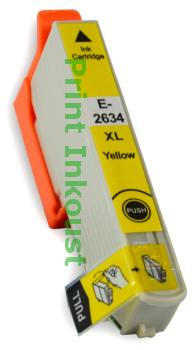 Náplň Epson T2634 žlutá s čipem Žlutá, 12 ml