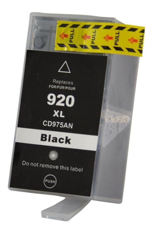 Černá inkoustová kazeta HP 920XLBK ( CD975AE ) Černá, 53 ml