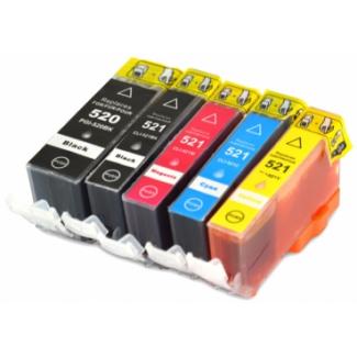 Sada Canon PGI-520BK / CLI-521BK, C, M, Y - kompatibilní