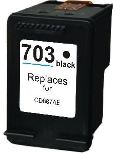 HP Č. 703 ( CD887AE ) Black - kompatibilní